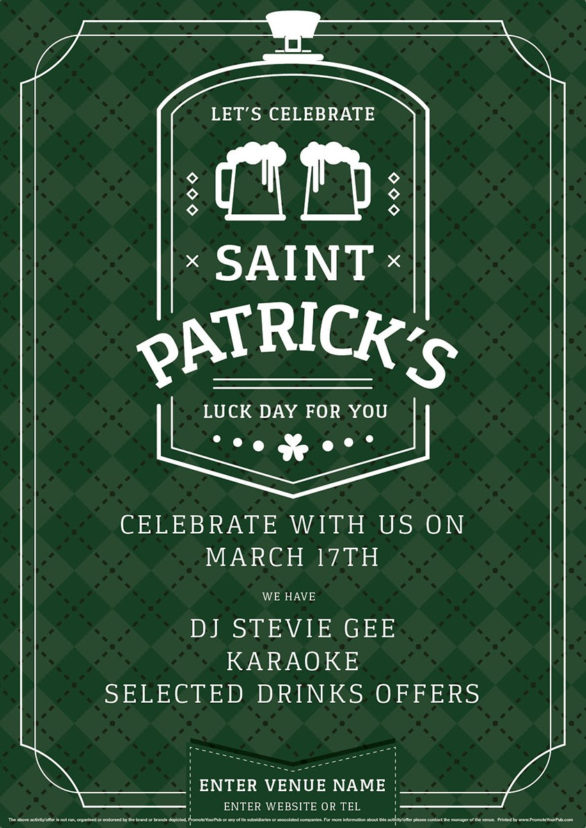 St.Patrick's Day Poster (A2)