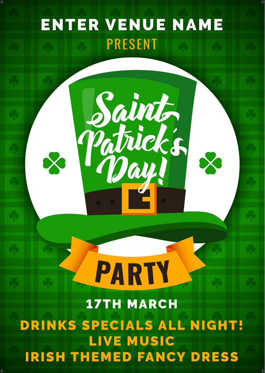 St.Patrick's Day Party Poster (A4)