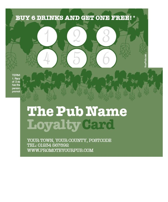 Traditional Vine Loyalty Card