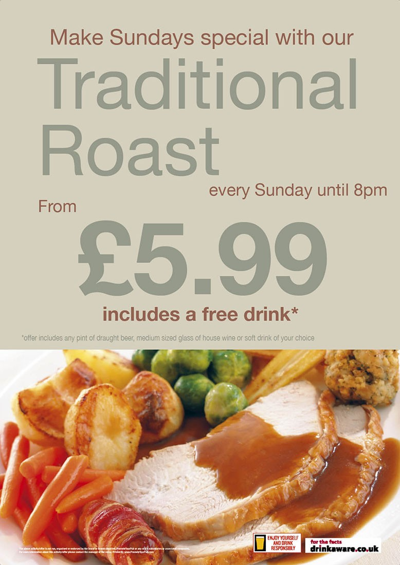 Traditional Roast Outdoor Sign (A0)