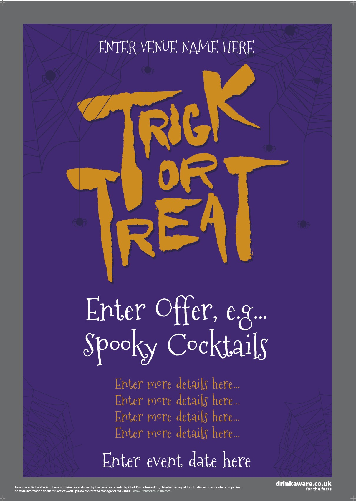 Halloween Offers Flyer (Trick or Treat) (A5)