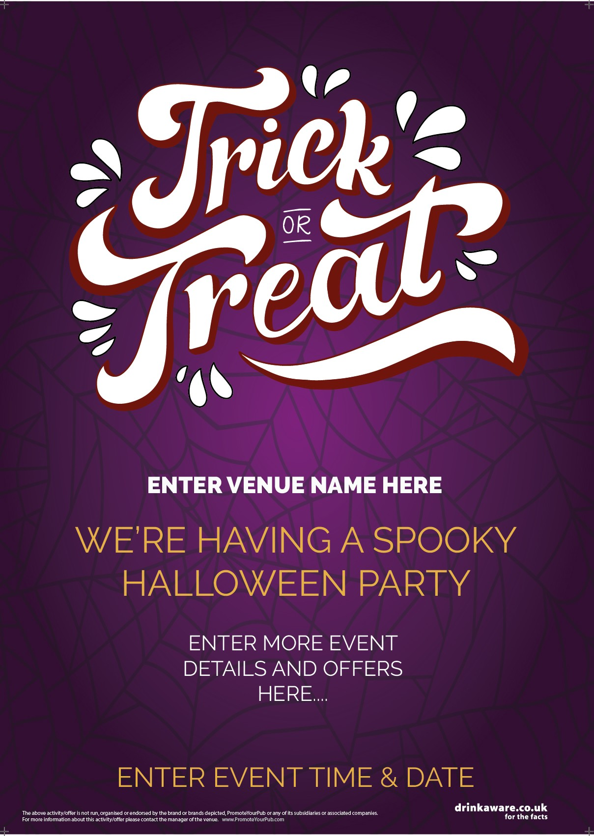 Halloween Party Flyer (Trick or TREAT WEB) (A5)