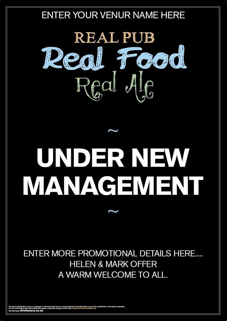 Under New Management Poster (A3)