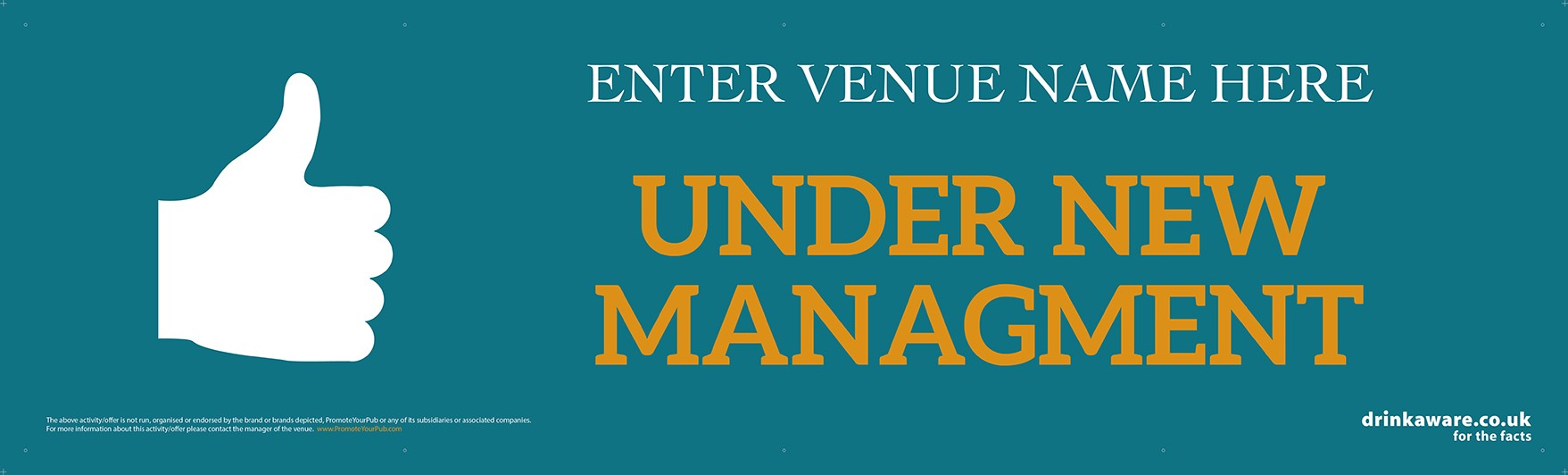 Under New Management Banner (Lrg)