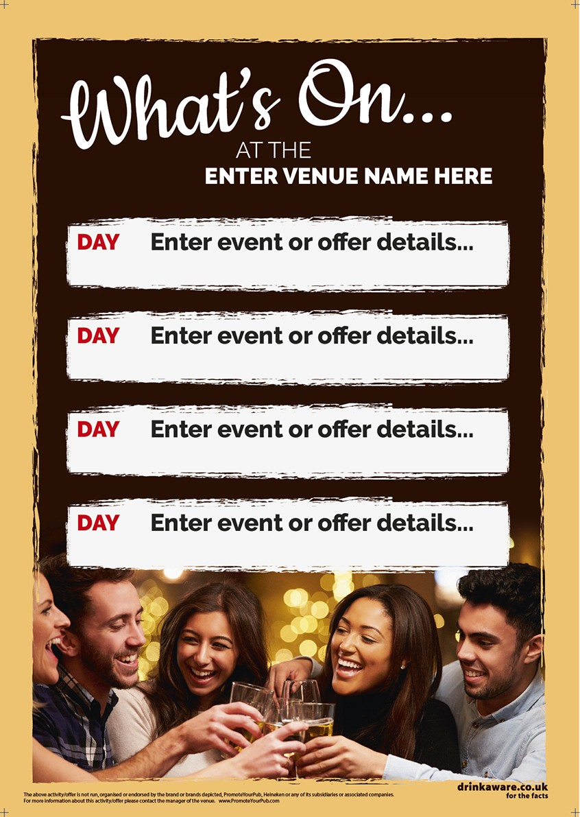 What's On Event Flyer (4 days) (A5)