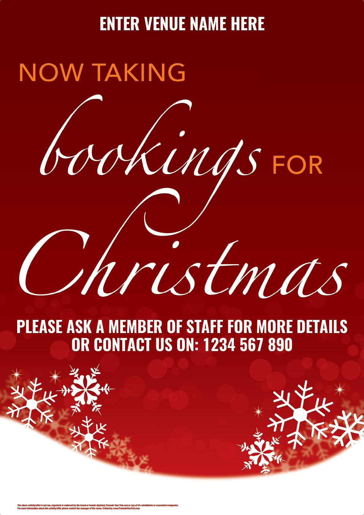 Christmas Bookings Flyer (A5)