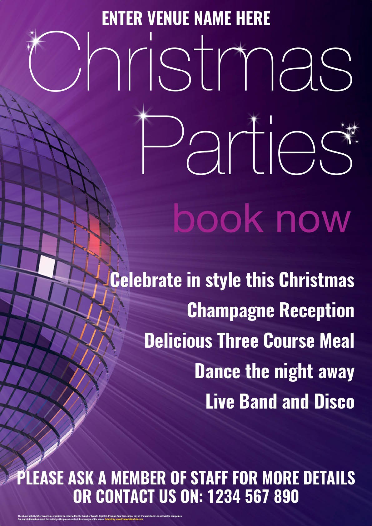 Christmas Parties Poster (A4)