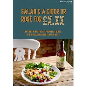 Salad & a Cider Poster