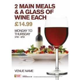 2 Meals + Glass Poster (A1)