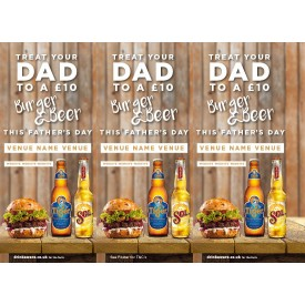 Fathers Day 3 Sided Table Talker (10 per pack)