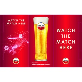Amstel Football 3 Sided Table Talker (10 per pack)