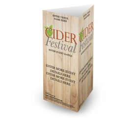 Cider Festival 3 Sided Table Talker (10 per pack)