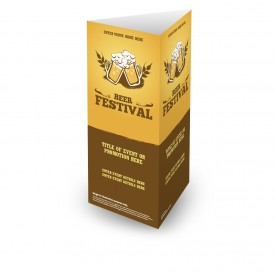 Beer Festival 3 Sided Table Talker (10 per pack)