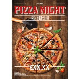 Pizza Night (no glass) Poster