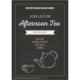 Afternoon Tea Poster (A3) (chalk)