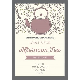 Afternoon Tea Poster (A4) (style 1)