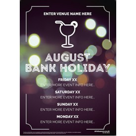 August Bank Holiday Poster v1 (Photo) (A4)