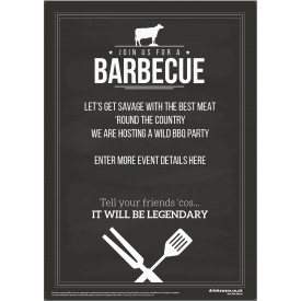 Join Us for a BBQ Poster (chalk) (A3)