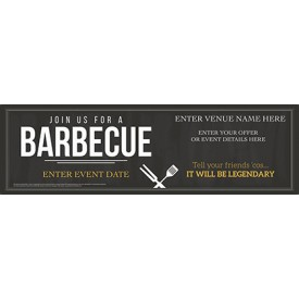 Join us for a BBQ Banner (Chalk) (Lrg)