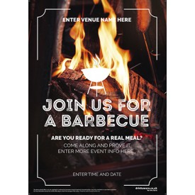 Join Us for a BBQ Poster (photo) (A3)