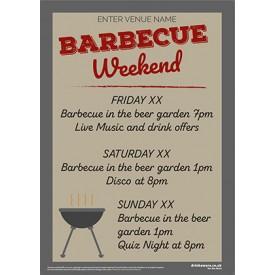 BBQ Weekend Poster (A3)