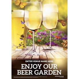 Beer Garden style 3 Poster