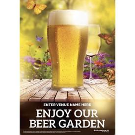 Beer Garden style 2 Poster
