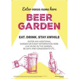 Beer Garden style 10 Poster