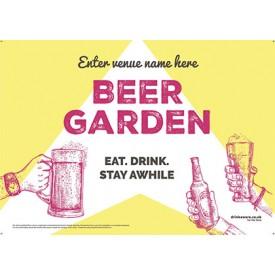 Beer Garden style 10 (landscape) Poster