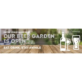Beer Garden style 4 Banner (Lrg)