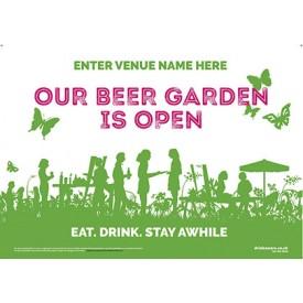 Beer Garden style 5 (landscape) Poster