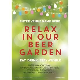 Beer Garden style 6 Poster