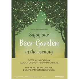 Beer Garden style 7 Poster
