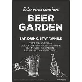 Beer Garden style 8 Poster