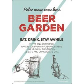 Beer Garden style 9 Poster