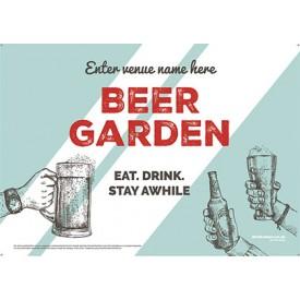 Beer Garden style 9 (landscape) Poster