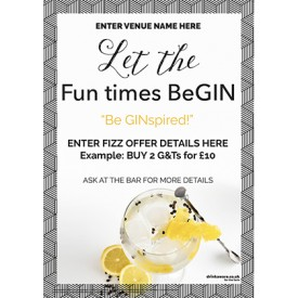 Gin & Tonic Flyer (photo border) (A5)