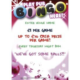 Pub Bingo Poster (A1)