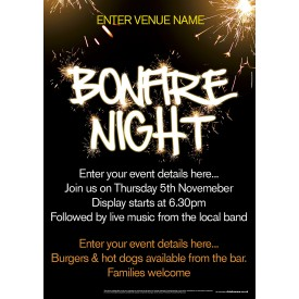 Bonfire Night Poster (A4)