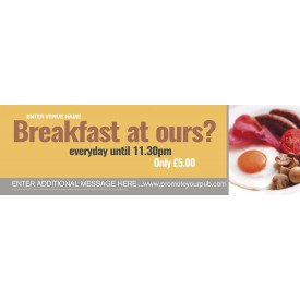 Breakfast Banner (XL10')