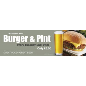 Burger & Pint Banner (XL10')