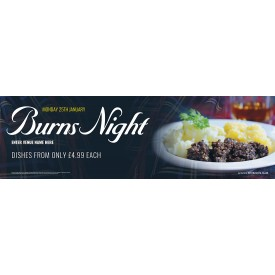 Burns Night Banner (XL10')