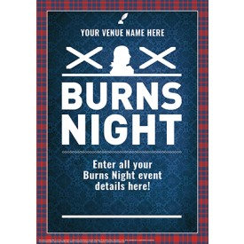 Burns Night 'Tartan Border' Poster (A3)