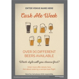 Cask Ale Week Poster (style1) (A1)