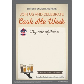 Cask Ale Week 'Empty Belly' Poster (style1) (A4)