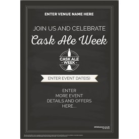 Cask Ale Week Flyer (chalk) (A5)