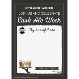 Cask Ale Week 'Empty Belly' Poster (chalk) (A4)