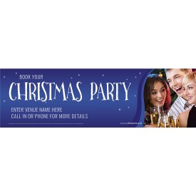 Christmas Party Banner (XL10')