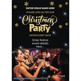 Christmas Party Poster (photo) (A4)