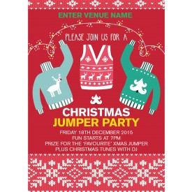 Christmas Jumper Party Poster (A2)